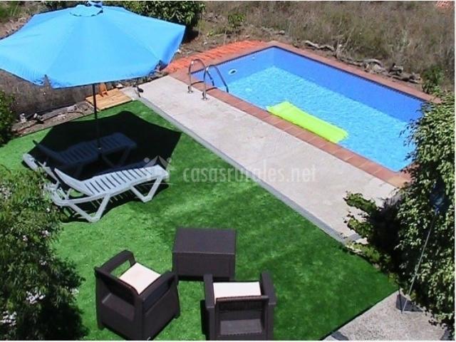 Vista de la piscina de la casa