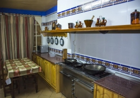 Large kitchen with which the house has