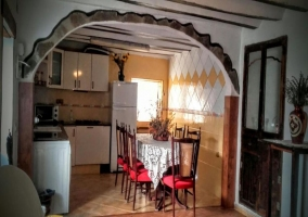 Kitchen with family table