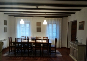 Family table in the dining room