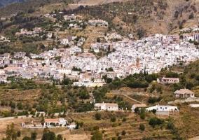 Vista del pueblo desde la casa