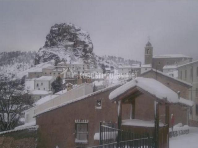Zona nevada del pueblo