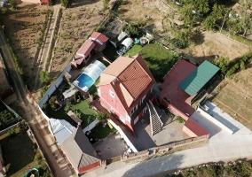 Vista aérea del alojamiento