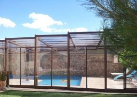 Vistas de la piscina cubierta