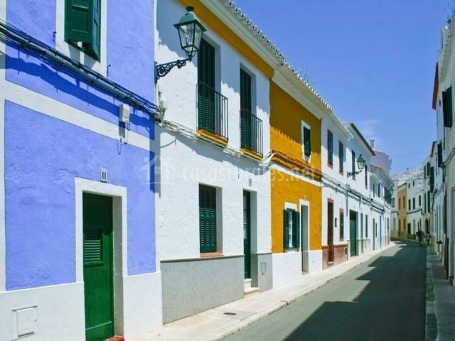 Zona de calles coloridas