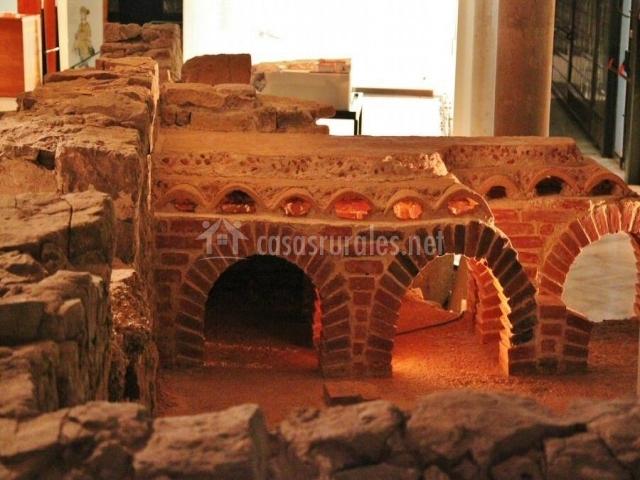 Restos de las termas romanas en Gijón
