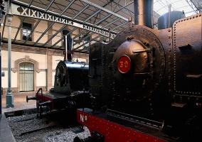 Tren antiguo en el museo del ferrocarril