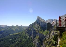 Mirador en la reserva de los Picos de Europa