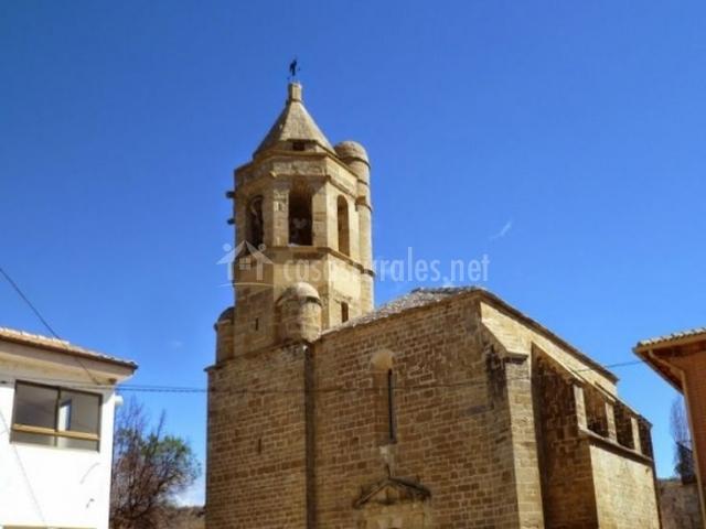Castigaleu y su iglesia