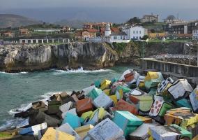 Coloridos bloques del puerto