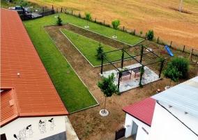 Vista aérea del jardín