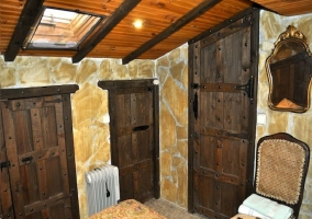 Habitación abohardillada con calefacción eléctrica
