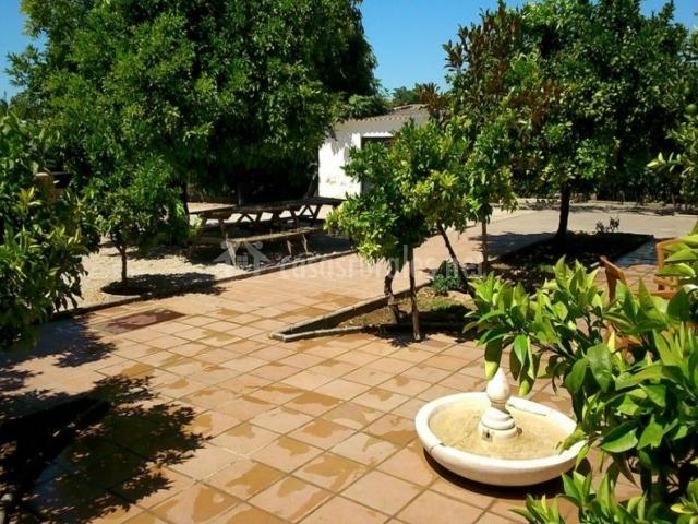 Vistas del patio con su fuente