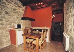 Cocina y comedor integrados