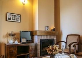 La chimenea de la sala de estar