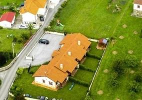 Los apartamentos, foto aérea