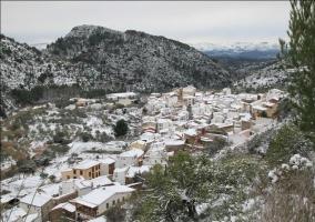Tejados nevados en Almedíjar