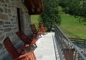 Acceso a la terraza desde el exterior