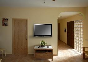 Salón-comedor con televisión de plasma