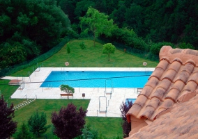 La piscina del alojamiento