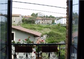 Vistas del pueblo desde un balcón de la casa