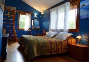 Dormitorio suite azul