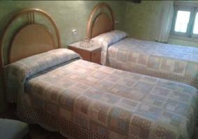 Habitación con camas de 0,90m