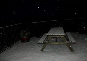 Mesa de la terraza nevada