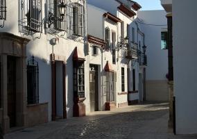 Casas blancas con rejas en Ronda