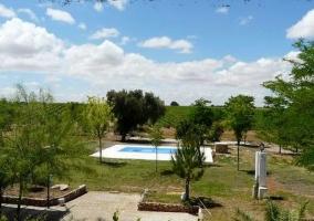 Vistas de la piscina al aire libre