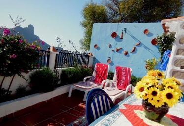Mobiliario de jardin en terraza