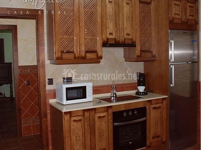 Cocina decorada en madera