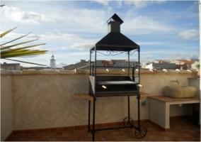Barbacoa en la terraza