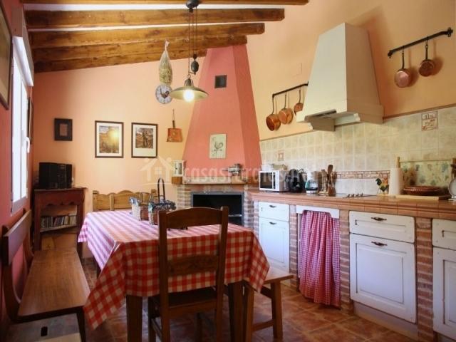 Casa rural valle del duero en langa de duero soria for Cocinas con chimenea