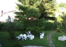 El jardín desde la terraza