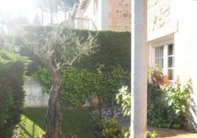 Vistas de las zonas de jardines en el exterior