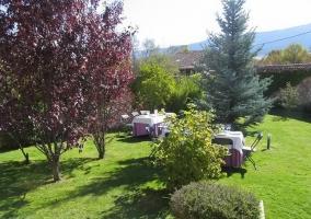 Jardín para celebrar un evento