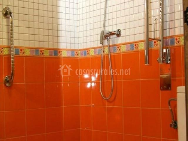 Detalle de la ducha