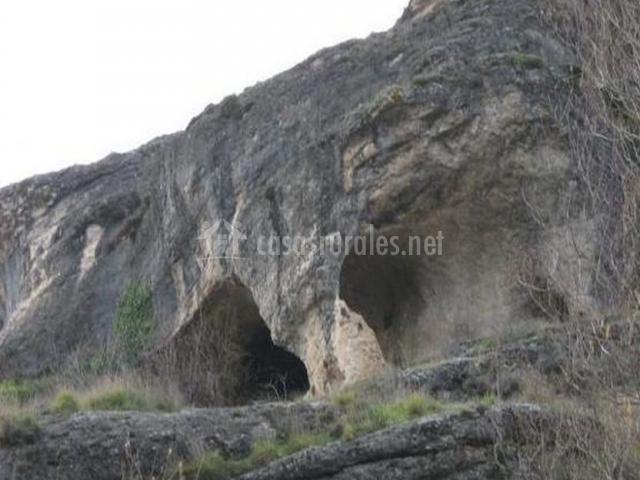Zona de cuevas en las rocas