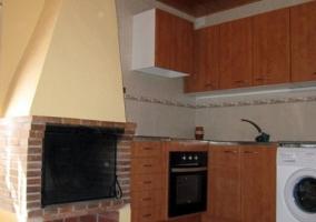 Cocina con horno de piedra