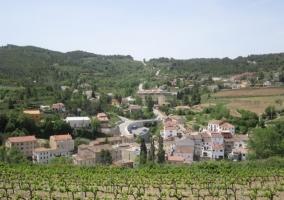 Vista del pueblo de Pontons