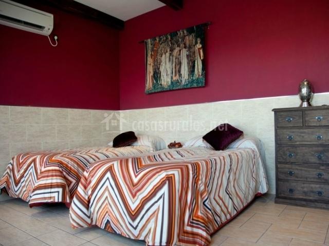 Dormitorio Toledo anexo con camas individuales