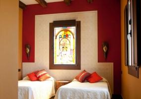 Dormitorio Alhambra con camas individuales