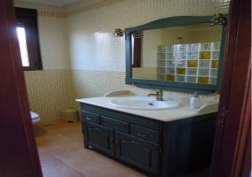 Baño privado en habitación de la casa rural