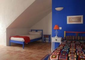 Dormitorio para tres personas