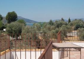 Terraza de la casa y vistas