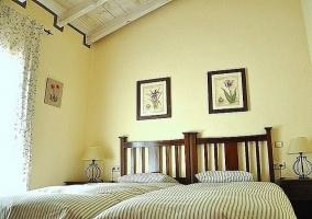 Camas del dormitorio - Casa el Burgo