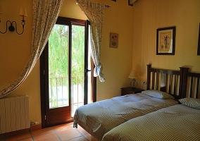 Dormitorio doble - Casa el Burgo