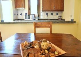 Vista de la cocina - Casa el Burgo