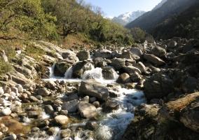 Bajada del río en la Garganta de la Tejea